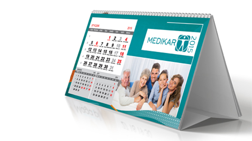 KALENDARZE | Kalendarz biurkowy JUSTYNA NA SPIRALI