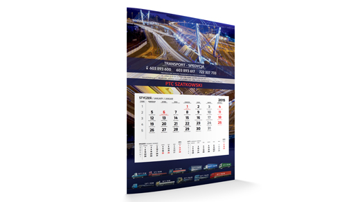 KALENDARZE | Kalendarz jednodzielny STANDARD