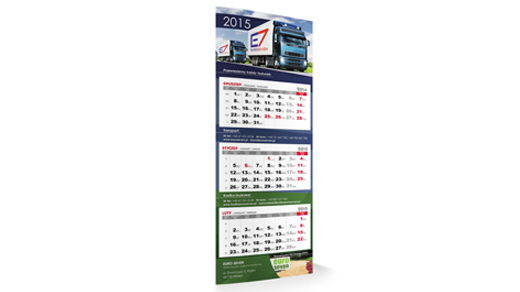 KALENDARZE | Kalendarz trójdzielny MAXI