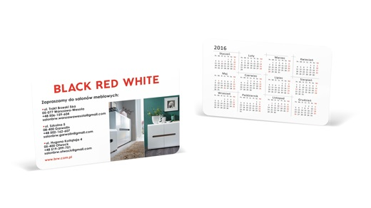 Kalendarz listkowy STANDARD