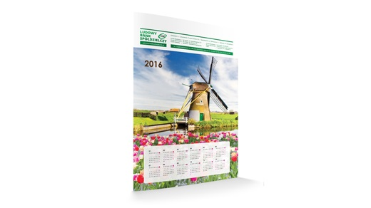 Kalendarz listwowany STANDARD