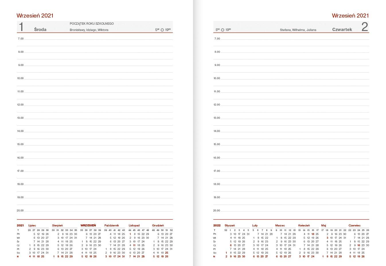 Kalendarz nauczycielski B6 dzienny